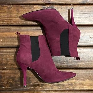 Guess Purple Heeled Booties